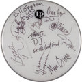 Music Memorabilia:Autographs and Signed Items, Allman Brothers Band-Signed Drumhead....