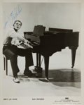 Music Memorabilia:Autographs and Signed Items, Jerry Lee Lewis Signed Photo....