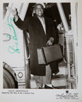 Music Memorabilia:Autographs and Signed Items, Louis Armstrong Signed Photo....
