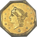 California Fractional Gold, 1867 25C Liberty Octagonal 25 Cents, BG-742, Low R.7, MS63 NGC....