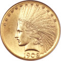 Indian Eagles, 1908-S $10 MS63 NGC....