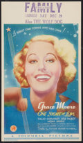 """Movie Posters:Musical, One Night of Love (Columbia, 1934). Midget Window Card (8"""" X 14""""). Musical.. ..."""