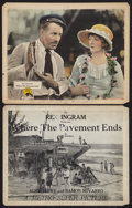 """Movie Posters:Drama, Where the Pavement Ends (Metro, 1923). Title Lobby Card and LobbyCard (11"""" X 14""""). Drama.. ... (Total: 2 Items)"""