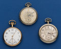 Timepieces:Pocket (post 1900), Three - 12 Size Pocket Watches Runners. ... (Total: 3 Items)