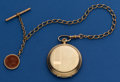 Timepieces:Pocket (post 1900), Stowa 51 mm Hunter's Case Pocket Watch With Chain. ...