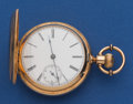 Timepieces:Pocket (post 1900), Agassiz 43 mm 18k Gold Hunter's Case Pocket Watch. ...