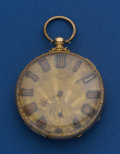 Timepieces:Pocket (pre 1900) , Tobias 18k Gold 46 mm Key Wind Pocket Watch. ...