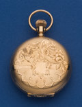 Timepieces:Pocket (post 1900), Illinois 14k Gold 4 Size Hunter's Case Pocket Watch. ...