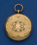 Timepieces:Pocket (pre 1900) , LeRoy & Fils 18k Gold Ultri-thin Cylinder Key Wind PocketWatch. ...