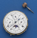 Timepieces:Pocket (post 1900), Swiss Quarter Hour Repeater With Calendar & Moon Phase &Chronograph Movement Only. ...