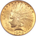Indian Eagles, 1908-S $10 MS62 PCGS. CAC....