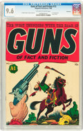 Golden Age (1938-1955):Western, Guns of Fact and Fiction #13 Vancouver pedigree (MagazineEnterprises, 1948) CGC NM+ 9.6 Off-white to white pages....