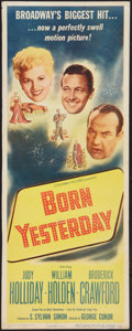 "Movie Posters:Comedy, Born Yesterday (Columbia, 1951). Insert (14"" X 36""). Comedy.. ..."