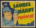 "Movie Posters:Comedy, Pardon Us (Film Classics, R-1944). Title Lobby Card (11"" X 14""). Comedy.. ..."