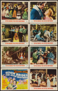 """Movie Posters:Musical, Seven Brides for Seven Brothers (MGM, 1954). Lobby Card Set of 8 (11"""" X 14""""). Musical.. ... (Total: 8 Items)"""