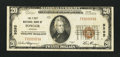 National Bank Notes:Kansas, Fowler, KS - $20 1929 Ty. 1 The First NB Ch. # 9595. ...
