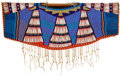 American Indian Art:Beadwork and Quillwork, A PLATEAU BEADED CLOTH DRESS YOKE. c. 1900...