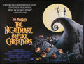 "Movie Posters:Fantasy, The Nightmare Before Christmas (Touchstone, 1993). British Quad(30"" X 40"") SS Advance. Fantasy.. ..."