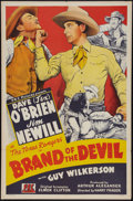 "Movie Posters:Western, Brand of the Devil (PRC, 1944). One Sheet (27"" X 41""). Western.. ..."