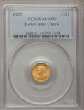 Commemorative Gold, 1905 G$1 Lewis and Clark MS63+ PCGS....