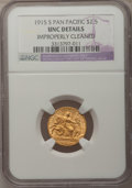 Commemorative Gold, 1915-S $2 1/2 Panama-Pacific Quarter Eagle -- Improperly Cleaned --NGC Details. Unc....