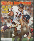 """Football Collectibles:Photos, Walter Payton Signed """"Sports Illustrated"""" Cover...."""