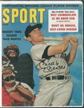"Baseball Collectibles:Photos, Mickey Mantle Signed ""SPORT"" Magazine Cover...."