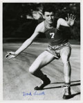 "Autographs:Photos, Hank Luisetti Single Signed Photograph. Angelo ""Hank"" Luisetti wasone of the great innovators of the college basketball ga..."