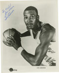 Autographs:Photos, Gus Johnson Single Signed Photograph. Gus Johnson spent nine seasons with the Baltimore Bullets and was one of the first pr...