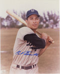 Autographs:Photos, Carl Furillo Single Signed Photograph. Two time National LeagueAll-Star, the right handed slugger played his entire career...