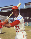 Autographs:Photos, Curt Flood Single Signed Photograph. The man that changed baseballforever by forcing free agency upon the owners, Curt Flo...