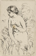 Prints:Contemporary, Pierre Auguste Renoir (1841-1919). Femme nu couche tournee adroite, no.2. Etching. 6-1/2in. x 4in.. Signed at lower rig...
