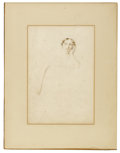 Fine Art - Painting, European:Antique  (Pre 1900), GEORGE HENRY HARLOW (British, 1787-1819). Portrait of a Lady. Watercolor and graphite on paper. 11-1/2 x 8 inches (29.2 ...