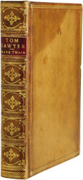 Books:First Editions, Mark Twain: An Excellent Example of the True First Edition ofThe Adventures of Tom Sawyer. (London: Chatto and Wind...