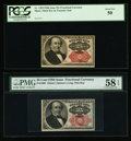 Fractional Currency:Fifth Issue, Fr. 1308 25¢ Fifth Issue PMG Choice About Unc 58 EPQ.. Fr. 1309 25¢Fifth Issue PCGS About New 50.. ... (Total: 2 notes)