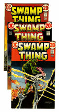 Bronze Age (1970-1979):Horror, Swamp Thing Group (DC, 1973-76) Condition: Average FN/VF....(Total: 16 Comic Books)
