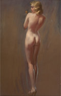 Pin-up and Glamour Art, BRADSHAW CRANDELL (American, 1896-1966). Nude withButterfly. Pastel on board. 33 x 20.5 in.. Not signed. Fromthe E...