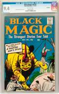 Silver Age (1956-1969):Horror, Black Magic V8#5 Bethlehem pedigree (Prize, 1961) CGC NM 9.4Off-white pages....