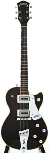 Musical Instruments:Electric Guitars, 1973 Gretsch Roc Jet-DB Black Solid Body Electric Guitar, #73207....