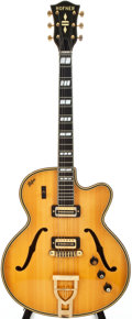 Musical Instruments:Electric Guitars, 1960s Hofner 470SE2 Natural Semi-Hollow Body Electric Guitar,#437....