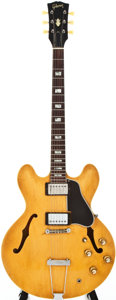 Musical Instruments:Electric Guitars, 1965 Gibson ES-335 Natural Semi-Hollow Body Electric Guitar #512222...