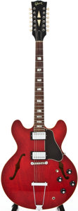 Musical Instruments:Electric Guitars, 1967 Gibson ES-335TDC12 Cherry 12-String Semi-Hollow Body ElectricGuitar, #119138....