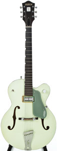 Musical Instruments:Electric Guitars, 1958 Gretsch Anniversary - DB Two Tone Smoke Green Semi-Hollow Body Electric Guitar, #28965....