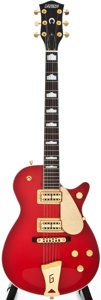 Musical Instruments:Electric Guitars, 2000 Gretsch Roc Jet Red Solid Body Electric Guitar,#999131-447....