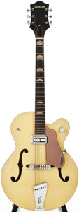 Musical Instruments:Electric Guitars, 1957 Gretsch Streamliner-6189 Two Tone Bamboo Yellow/ CopperSemi-Hollow Body Electric Guitar, Serial # 26678....