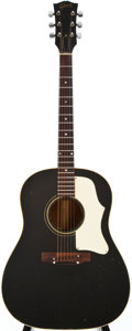 Musical Instruments:Acoustic Guitars, 1968 Gibson J-45 Black Acoustic Guitar, #985480....
