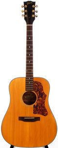 Musical Instruments:Acoustic Guitars, 1970-72 Gibson J-50 Deluxe Natural Acoustic Guitar, #990841....