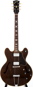 Musical Instruments:Electric Guitars, 1967-69 Gibson ES-150W Brown Stain Semi-Hollow Body ElectricGuitar, #898420....