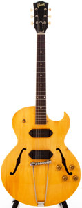 Musical Instruments:Electric Guitars, 1957 Gibson ES-225TDN Natural Semi-Hollow Body Electric Guitar,#U321234....