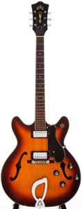Musical Instruments:Electric Guitars, 1967 Guild Starfire IV Sunburst Semi-Hollow Body Electric Guitar,#EL 1689....